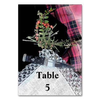 Robbie Burns casual Table marker Table Card