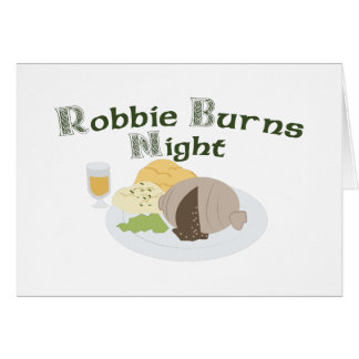 Robbie Burns Night Greeting Card