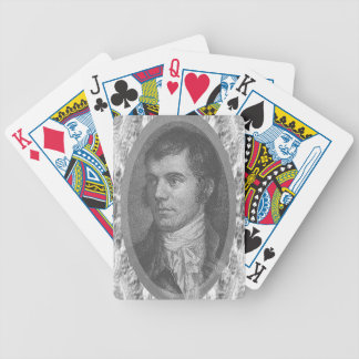Robbie Burns Portrait (Grey) Bicycle Playing Cards