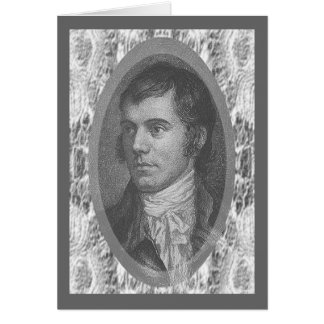 Robbie Burns Portrait (Grey) Greeting Card