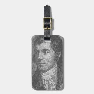 Robbie Burns Portrait (Grey) Luggage Tag