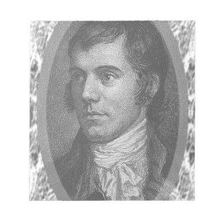 Robbie Burns Portrait (Grey) Notepad