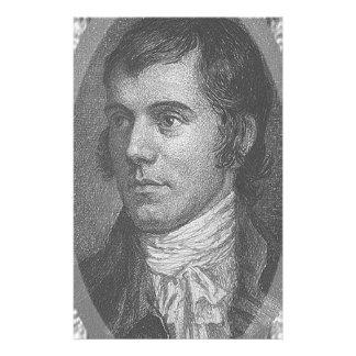 Robbie Burns Portrait (Grey) Stationery