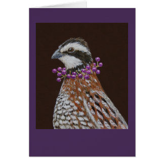 Robbie the bobwhite greeting card