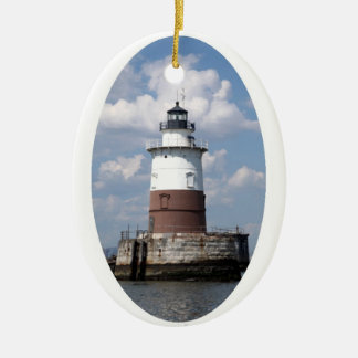 Robbins Reef Lighthouse Ceramic Ornament