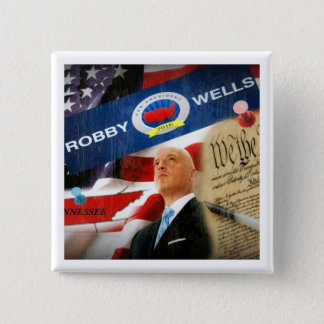 Robby Wells for President 2016 2 Inch Square Button