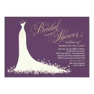 Robe de mariage élégante nuptiale de l'invitation carton d'invitation  12,7 cm x 17,78 cm