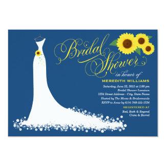 Robe de mariage nuptiale de tournesol de carton d'invitation  12,7 cm x 17,78 cm
