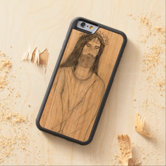 Robed Jesus Carved Cherry iPhone 6 Bumper Case