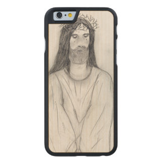 Robed Jesus Carved Maple iPhone 6 Case
