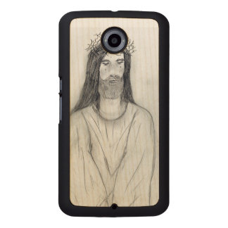 Robed Jesus Wood Phone Case