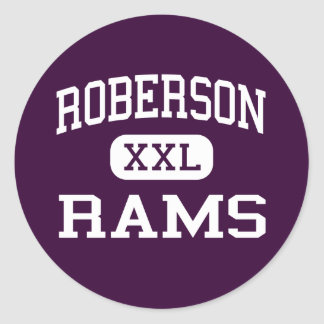 Roberson - Rams - High - Asheville North Carolina Classic Round Sticker