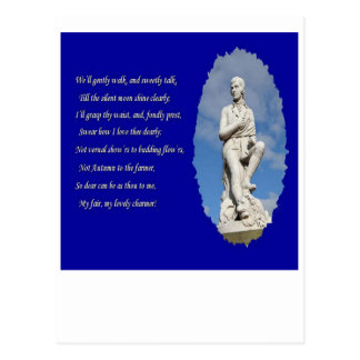 Robert Burns (1759–1796) Poems and Song Postcard