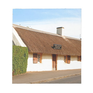 Robert Burns cottage, Alloway, Scotland Notepad