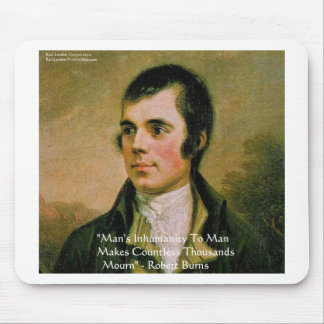 Robert Burns Famous Quote Mouse Pad