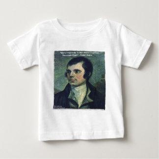 """Robert Burns """"Man's Inhumanity"""" Quote Gifts Baby T-Shirt"""