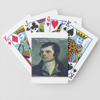 "Robert Burns ""Man's Inhumanity"" Quote Gifts Bicycle Playing Cards"