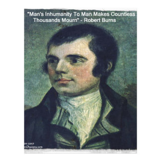 "Robert Burns ""Man's Inhumanity"" Quote Gifts Letterhead"