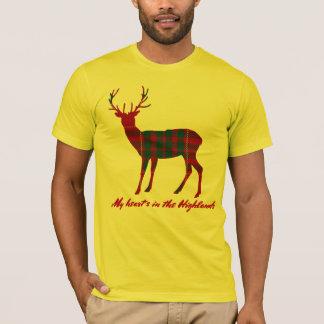 Robert Burns Quote Clan Cameron Tartan Stag T-Shirt