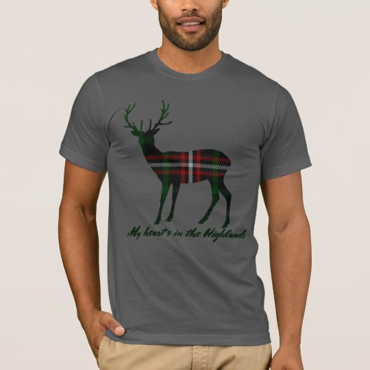Robert Burns Quote Clan Page Tartan Stag T-Shirt