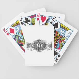 Robert Burns Scottish poet and lyricist, Scotland Bicycle Playing Cards
