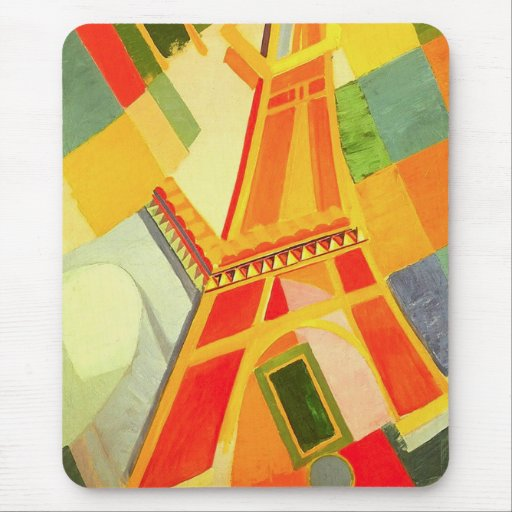 Robert Delaunay Eiffel Tower Mouse Pad