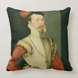 Robert Dudley (1532-88) 1st Earl of Leicester, c.1 Throw Pillow