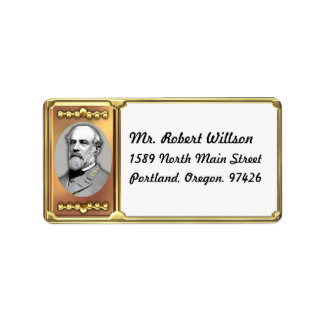 Robert E. Lee Address Label