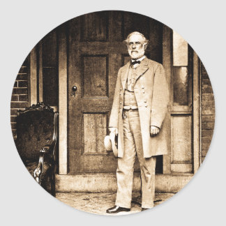 Robert E. Lee Vintage Mathew Brady Classic Round Sticker