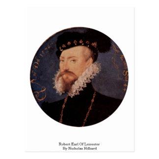Robert Earl Of Leicester By Nicholas Hilliard Postcard