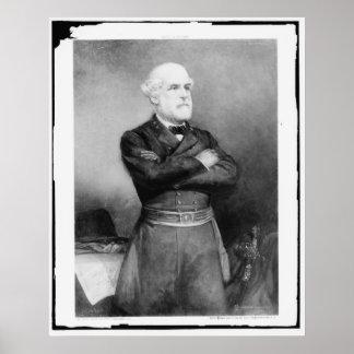 Robert Edward Lee Photograph by John Adams Elder Poster