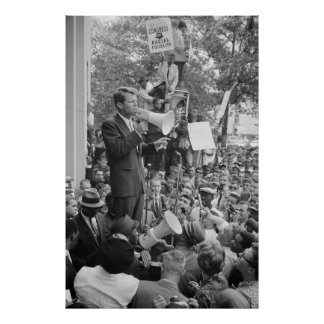 Robert F. Kennedy at CORE rally speech Poster