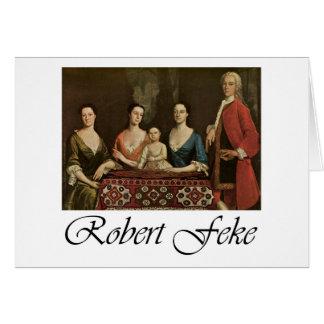 Robert Feke Isaac Royall and His Family Greeting Cards