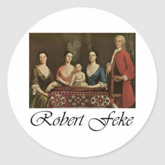 Robert Feke Isaac Royall and His Family Round Sticker