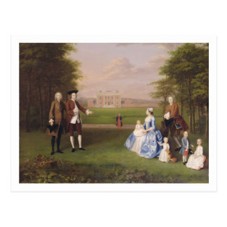 Robert Gwillym of Atherton and his Family, c.1745- Postcard