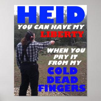 """Robert Heid """"Liberty"""" Poster"""