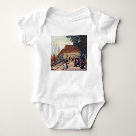 Robert Henri Volendam Street Scene Baby Bodysuit
