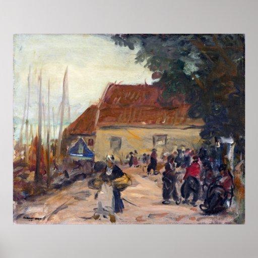 Robert Henri Volendam Street Scene Poster