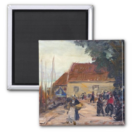 Robert Henri Volendam Street Scene Square Magnet