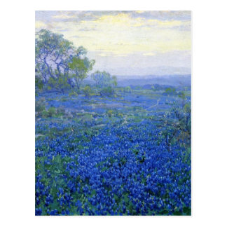 Robert Julian Onderdonk a-cloudy-day-bluebonnets Postcard