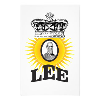 Robert Lee sun of south Stationery Design