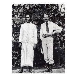 Robert Louis Stevenson and his friend Postcard