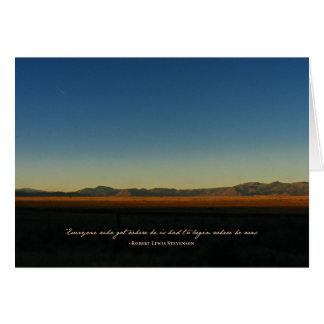 Robert Louis Stevenson - Determination Card
