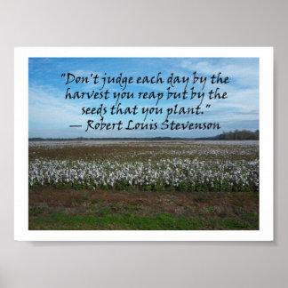 Robert Louis Stevenson-Don't Judge Each Day.... Poster