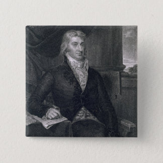 Robert R. Livingston, engraved by E. Mackenzie (en 2 Inch Square Button