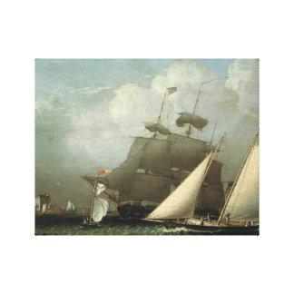 Robert Salmon -Picture of the Dream pleasure Yacht Canvas Print