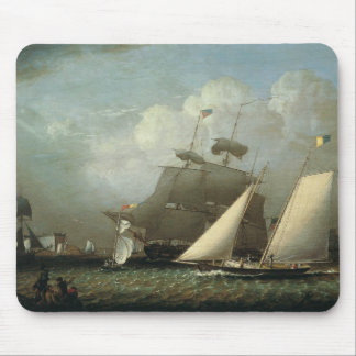 Robert Salmon -Picture of the Dream pleasure Yacht Mouse Pad
