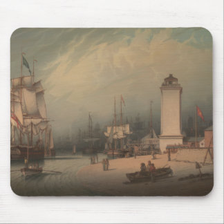 Robert Salmon - The Low Lighthouse, North Shields Mouse Pad