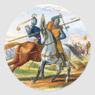 Robert the Bruce kills Sir Henry Bohum Classic Round Sticker