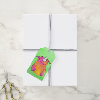 Roberta the Monster, gift tag with quote